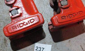 2 Ridgid pipe cutter ends